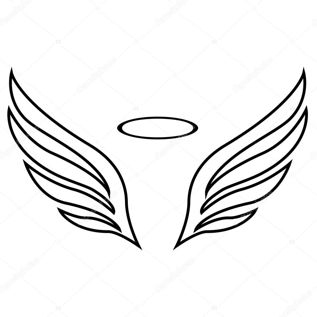 1024x1024 Vector Sketch Of Angel Wings Stock Vector Architect.aleks