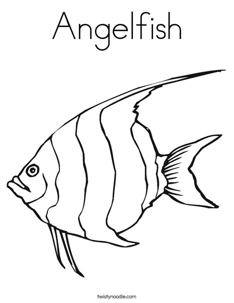 468x605 Angelfish Coloring Page