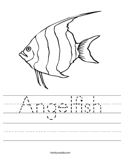 468x605 Angelfish Worksheet