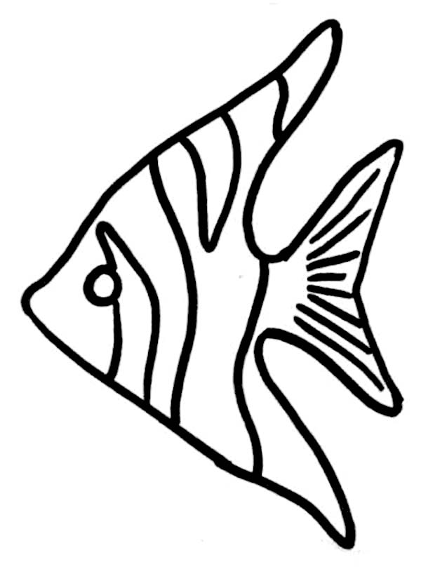 600x811 Angel Fish Coloring Page