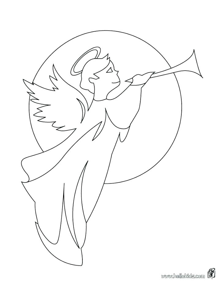 728x941 Coloring Page Angel Angel Coloring Page Angels Coloring Pages