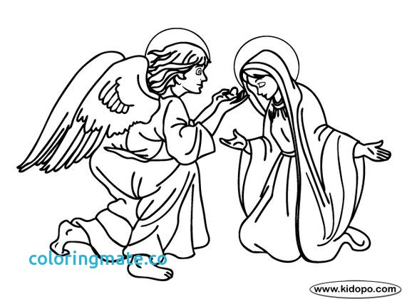 564x420 Mary And The Angel Coloring Page Luxury Angel Gabriel Appears