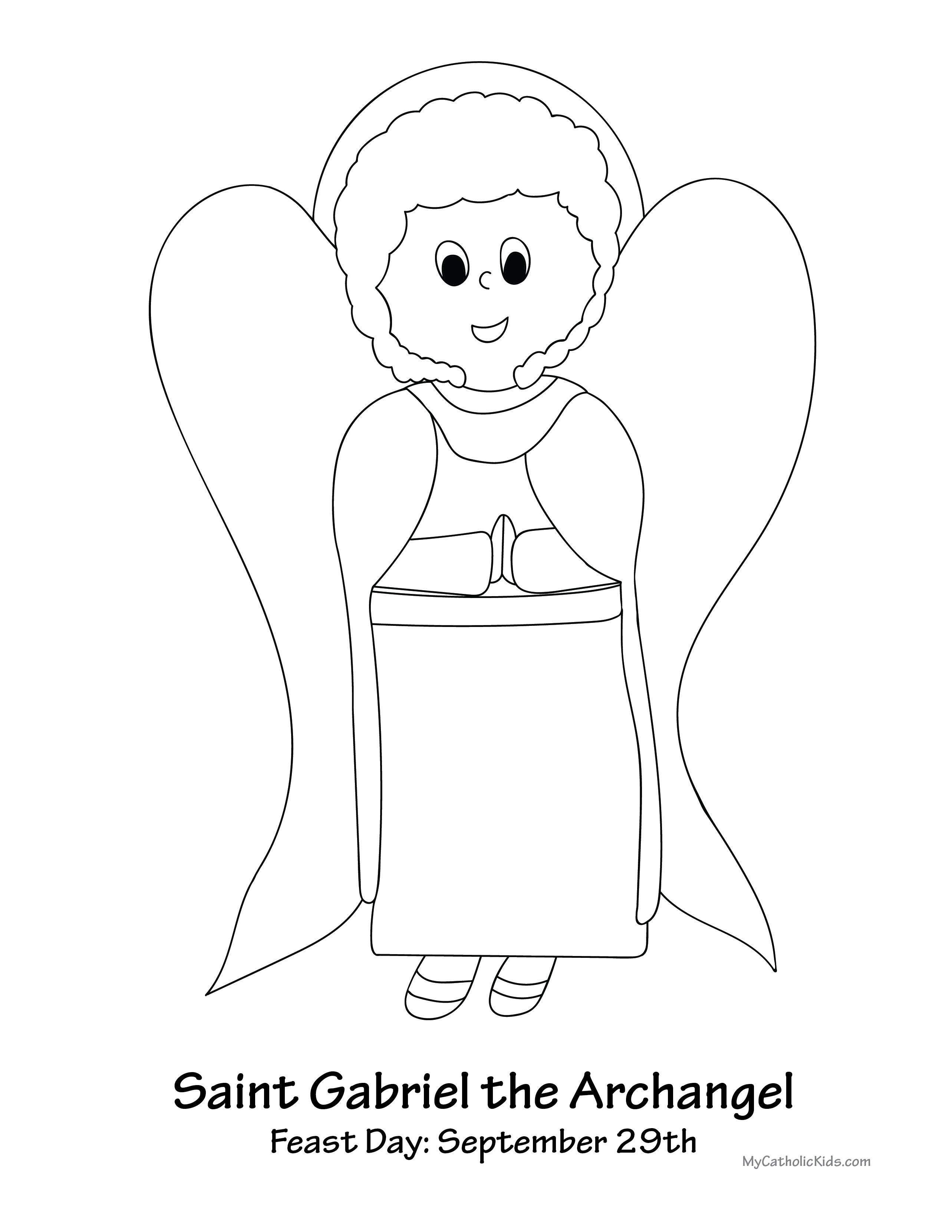 2567x3321 Saint Gabriel The Archangel