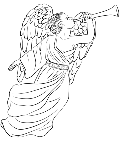 411x480 Angel Gabriel Coloring Page Free Printable Coloring Pages