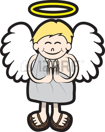 356x450 Isolated Angel Character With Halo And Wings Royalty Free Cliparts