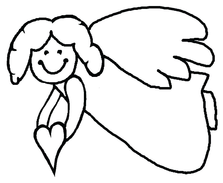 925x759 Free Angel Coloring Pages