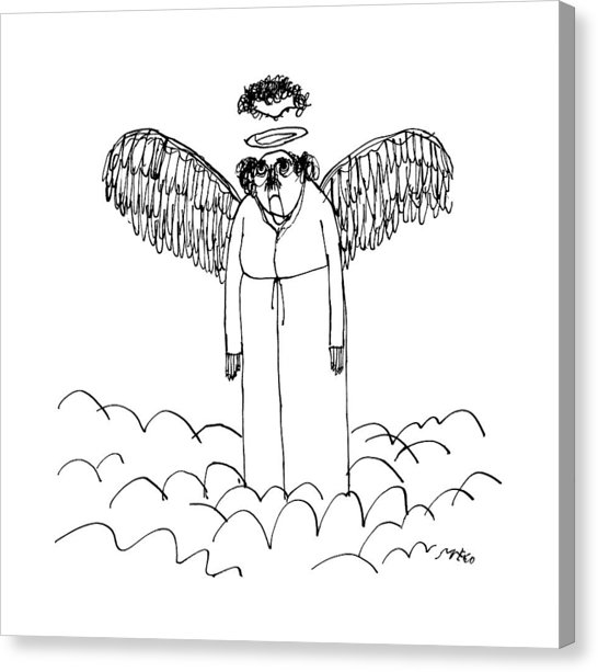 546x613 An Angel's Halo Cuts Off The Top Of His Head Drawing By Edward Steed