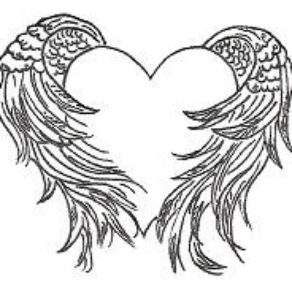 580x577 Heart And Angel Wings Tattoo Angel Wings And Tattoo