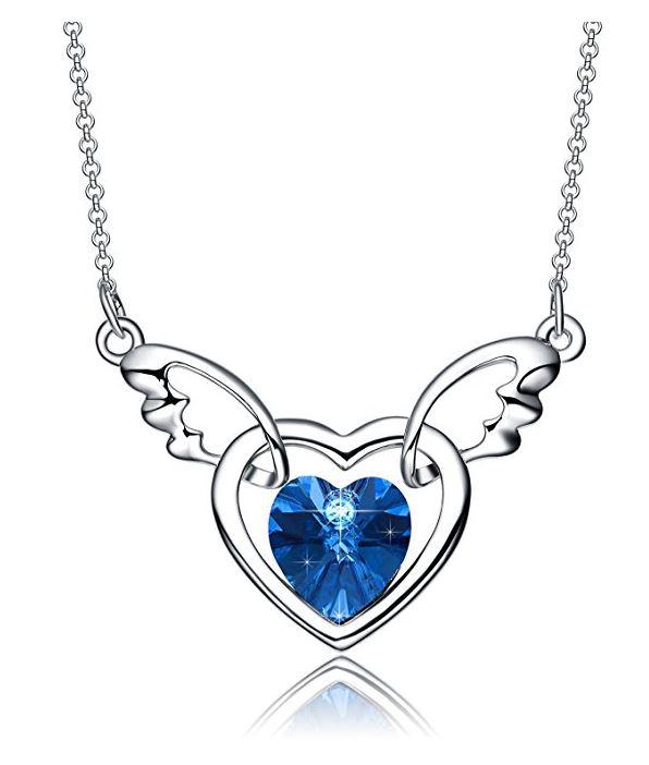 596x702 Neemoda Angel Heart Luxury Angel Wings Crystal Heart Pendant