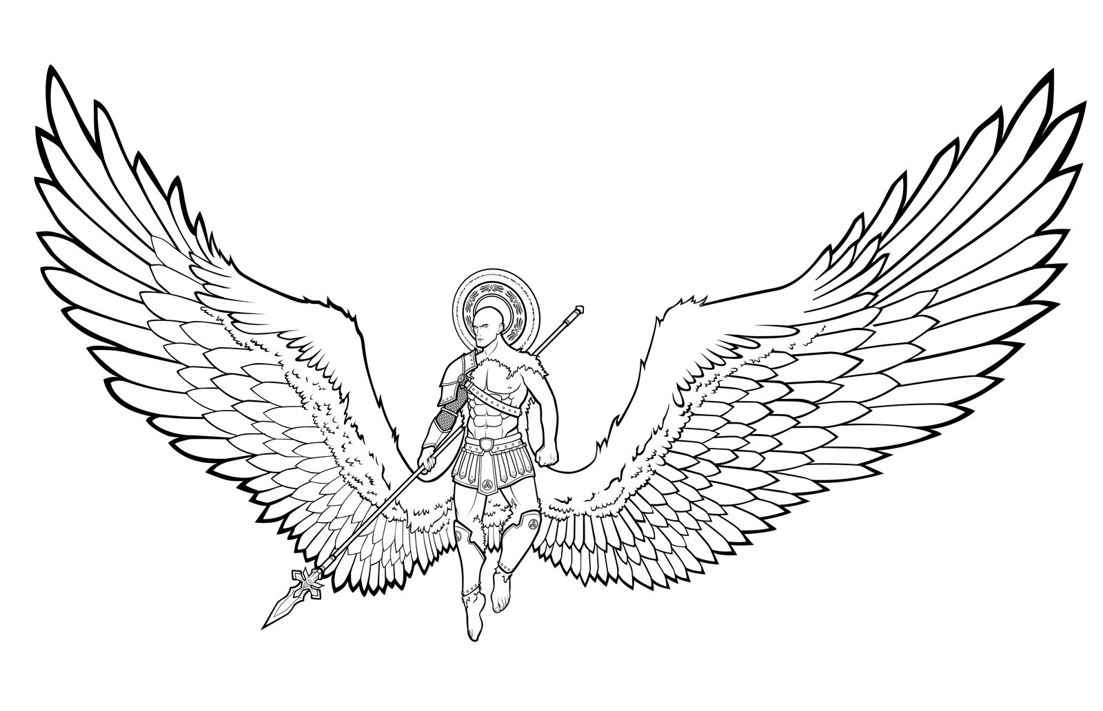 1600x1032 Angel Wings Line Drawing Angel Wings Valor By Lastlinelover