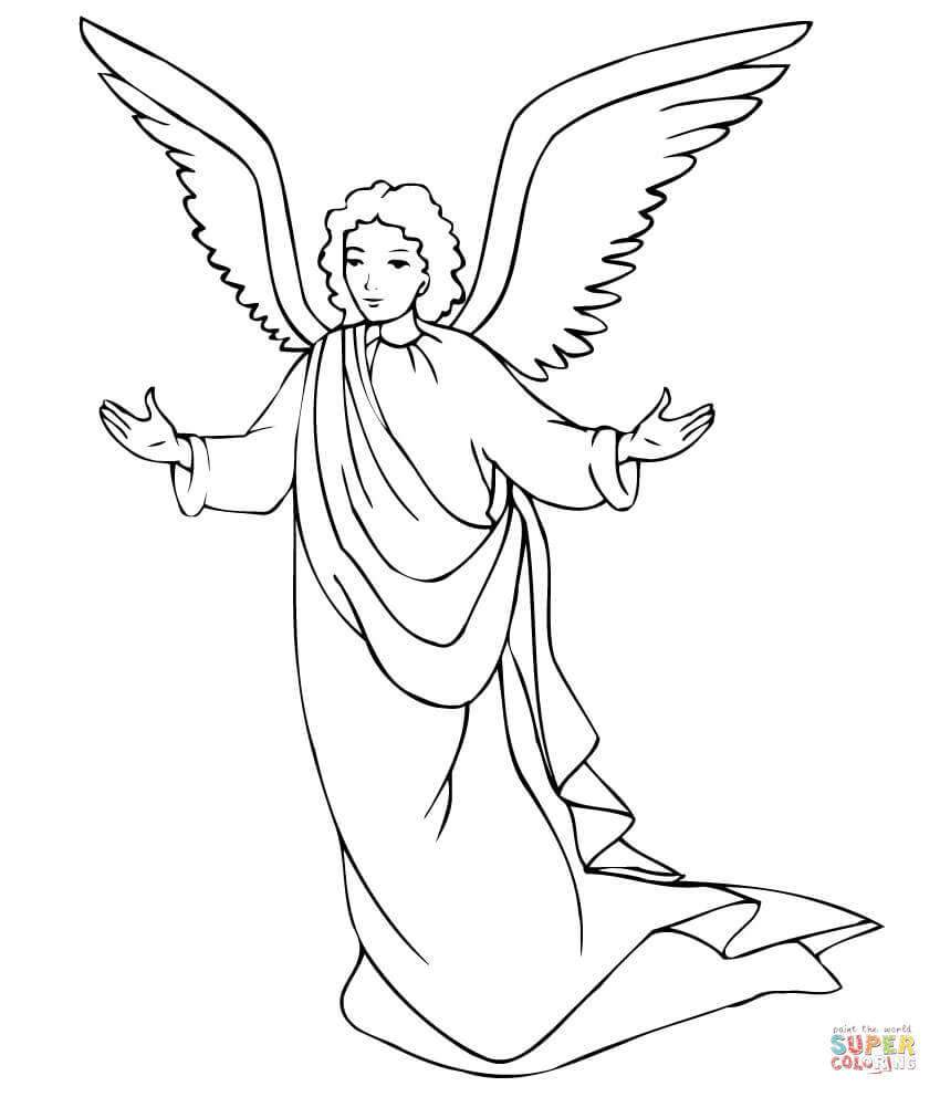 850x992 Angels Coloring Pages Free Coloring Pages