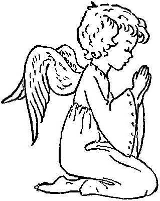 319x400 Guardian Angel Coloring Pages