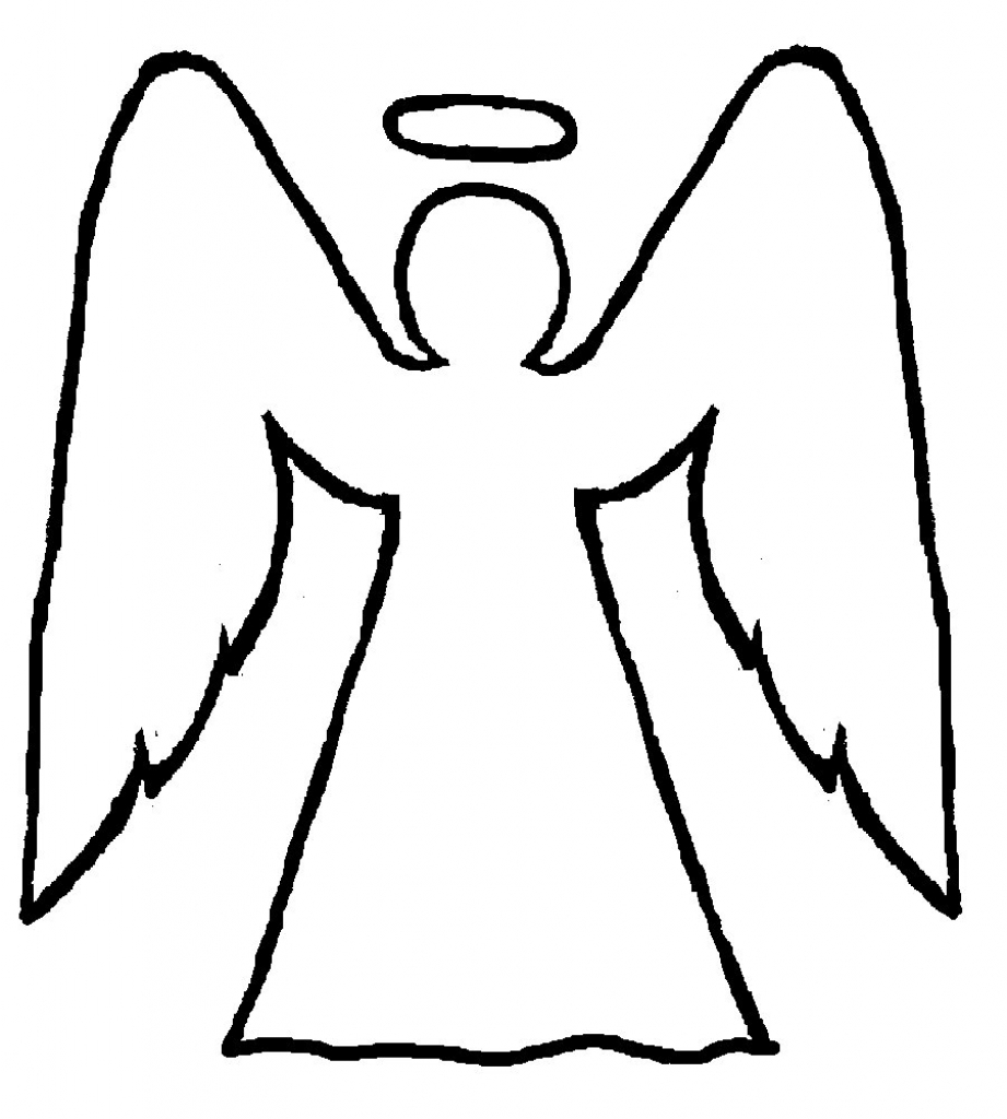 921x1024 How To Draw Angels Angel Line Drawing Clipartsco