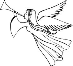236x214 Angel Clip Art Simple Angel Clipart Black And White Free
