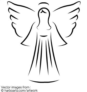 335x355 Download Christmas Angel Artistic Outline