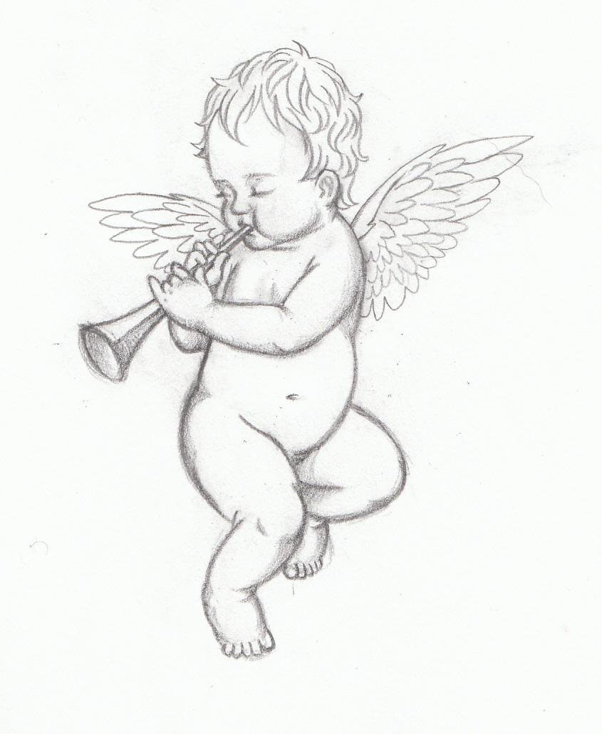 845x1031 Baby Angel Pencil Drawing Baby Angel By Tyke220