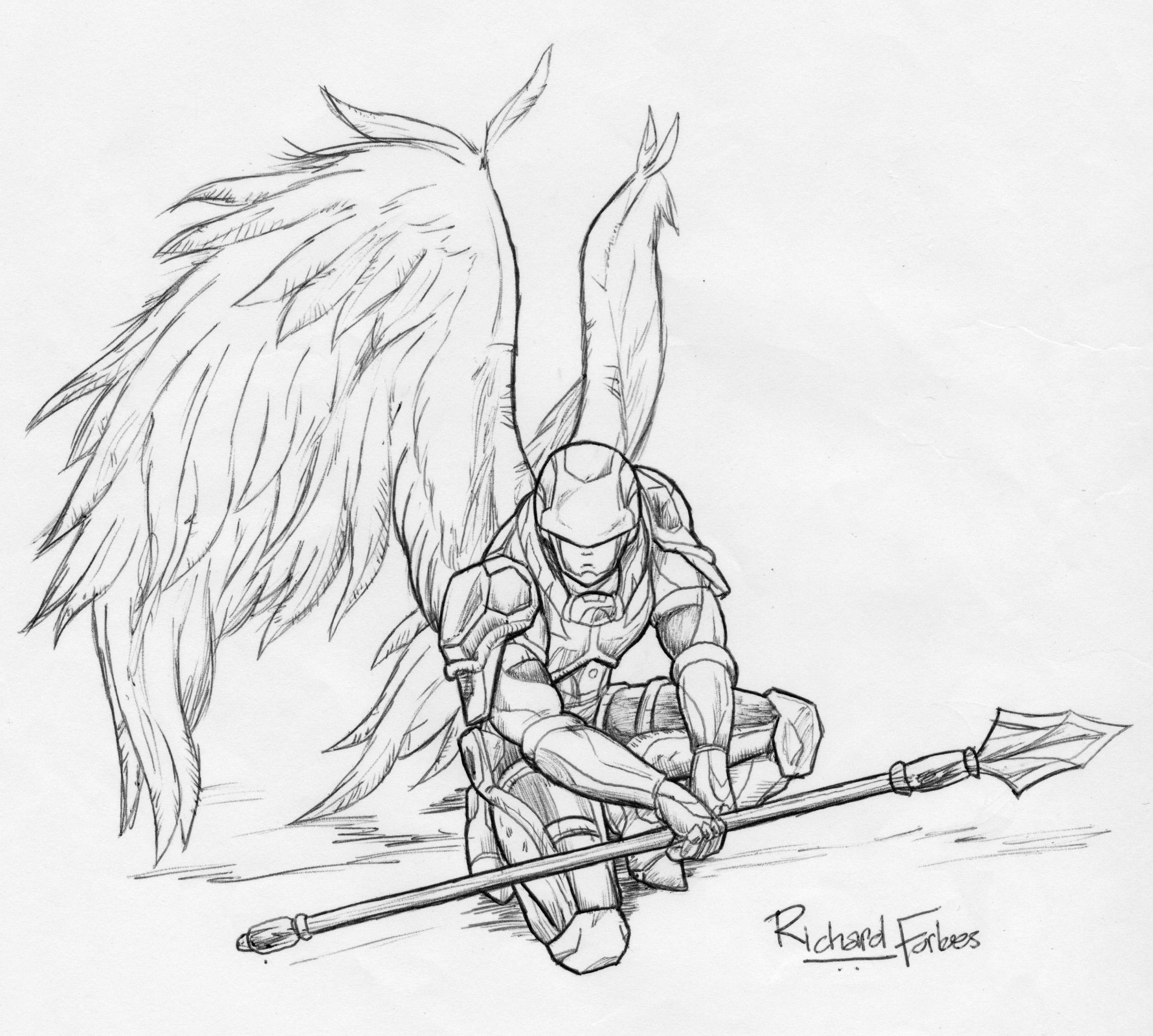 2262x2033 Drawn Warrior Warrior Angel