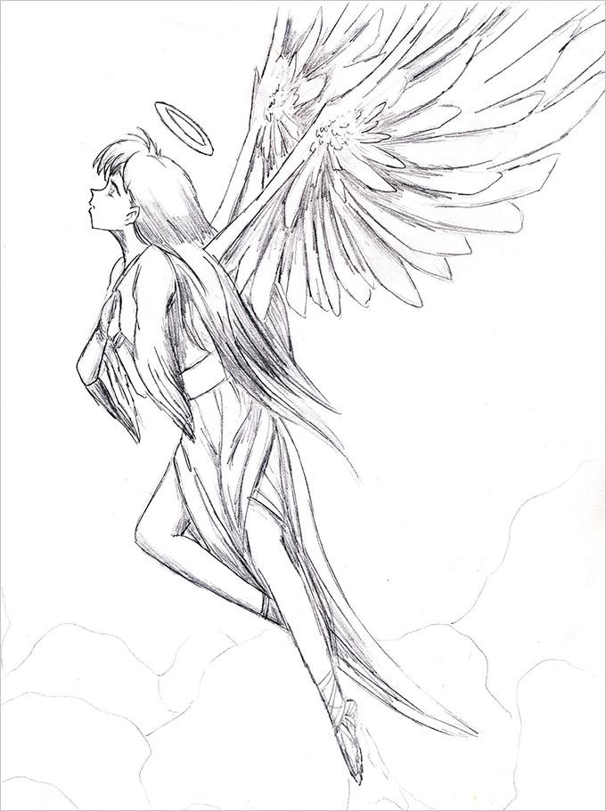 680x911 Angel Drawings