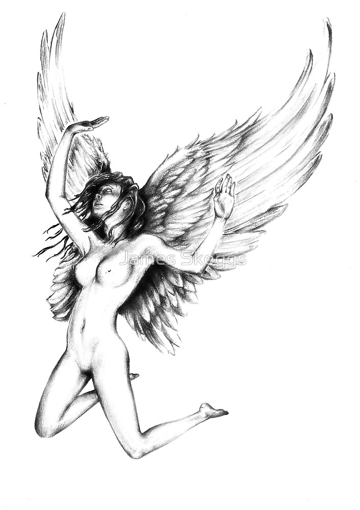 707x1000 Angel, Pencil, Forgivness By James Skeggs Redbubble