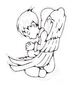 248x300 Praying Angel Drawings Fine Art America