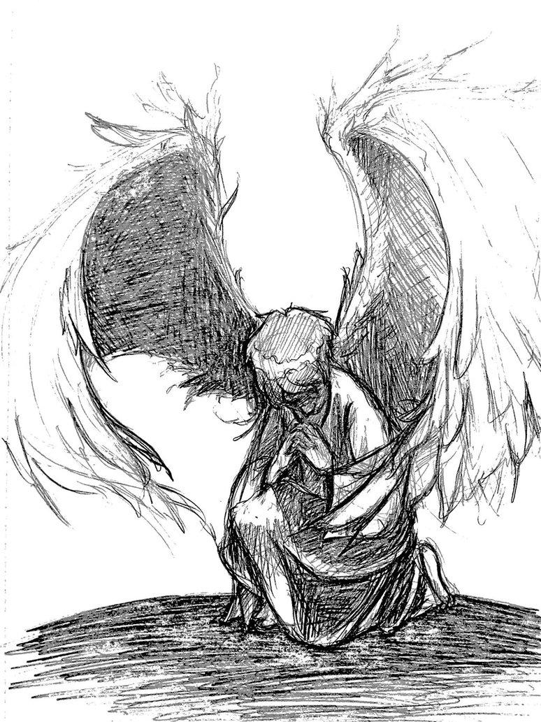 774x1033 Praying Angel Sketch By Christajune