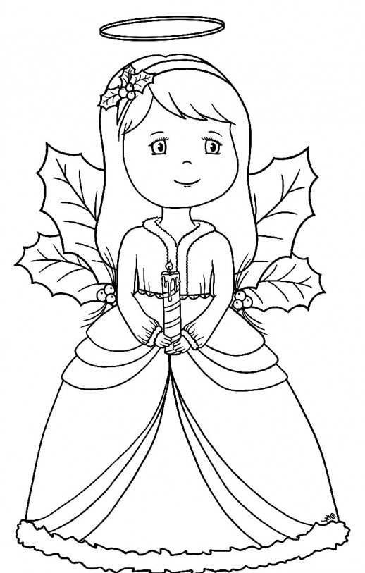 518x813 A Beautiful Little Angel Praying By Bringing A Candle At Christmas