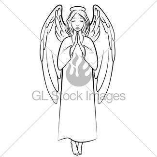 325x325 Praying Angel Gl Stock Images