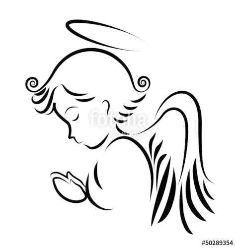 475x500 Angel Praying Logo Vector Stock Image And Royalty Free Vector