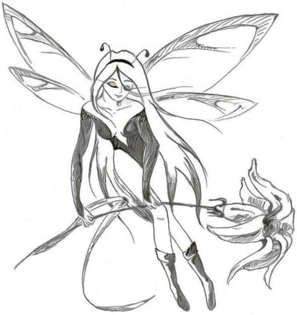 Angel Tattoo Drawing