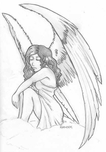 418x600 Angel Tattoo Designs