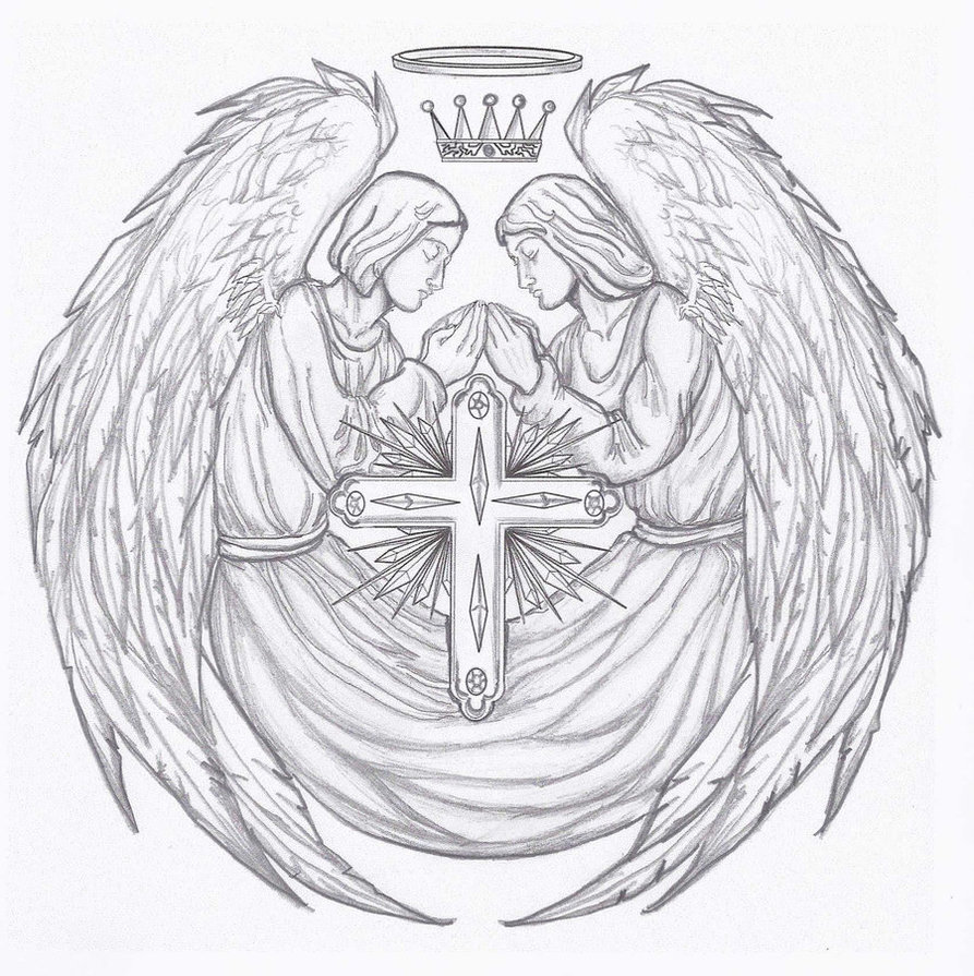 893x895 Angel Tattoo By Kracken