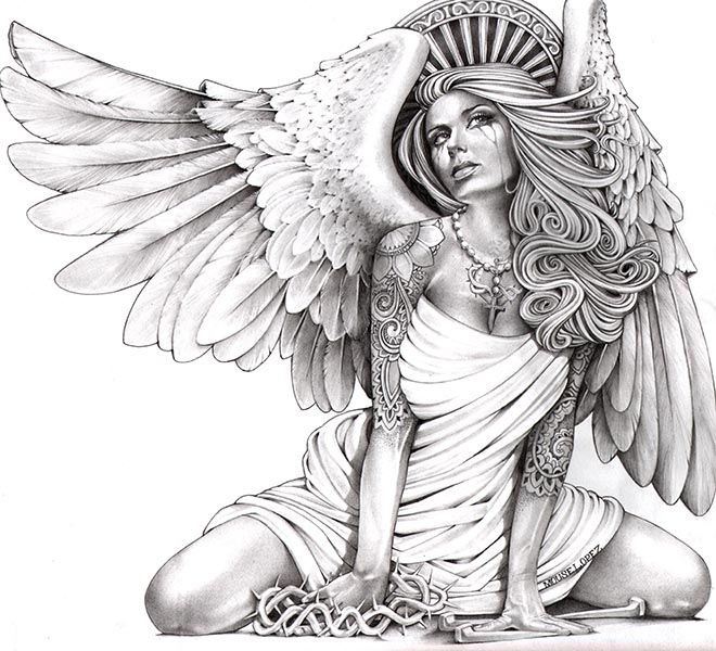 660x600 Crying Angel Chicano, Sexy Tattoos And Mexicans
