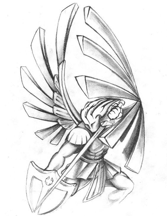 564x729 Saint Symbol Tattoo Designs St Michael Tattoo Drawings Saints