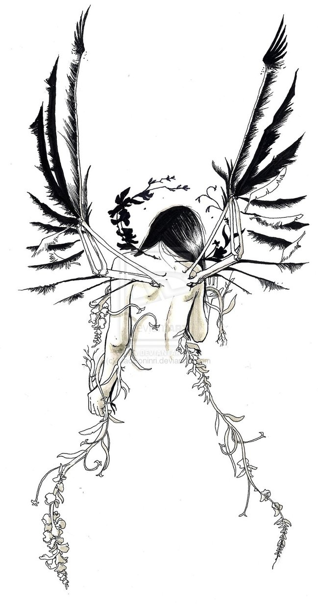 649x1232 5 Tatoos Looking For Abstract Angel Tattoo Designs
