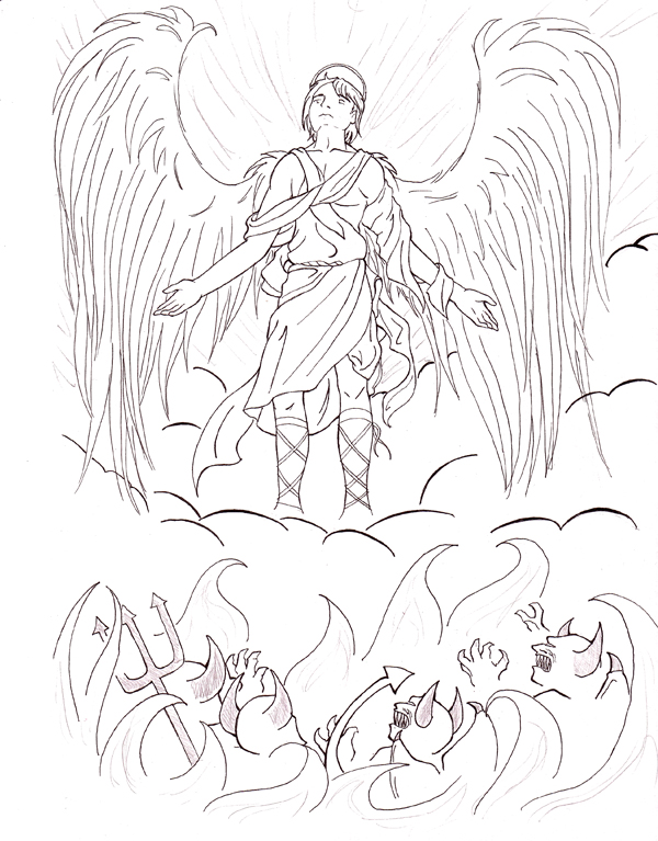 600x767 Angels And Demons By Silentwanderersc