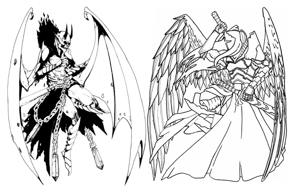 600x391 Demon Vs The Angel By Basilthebarbarian