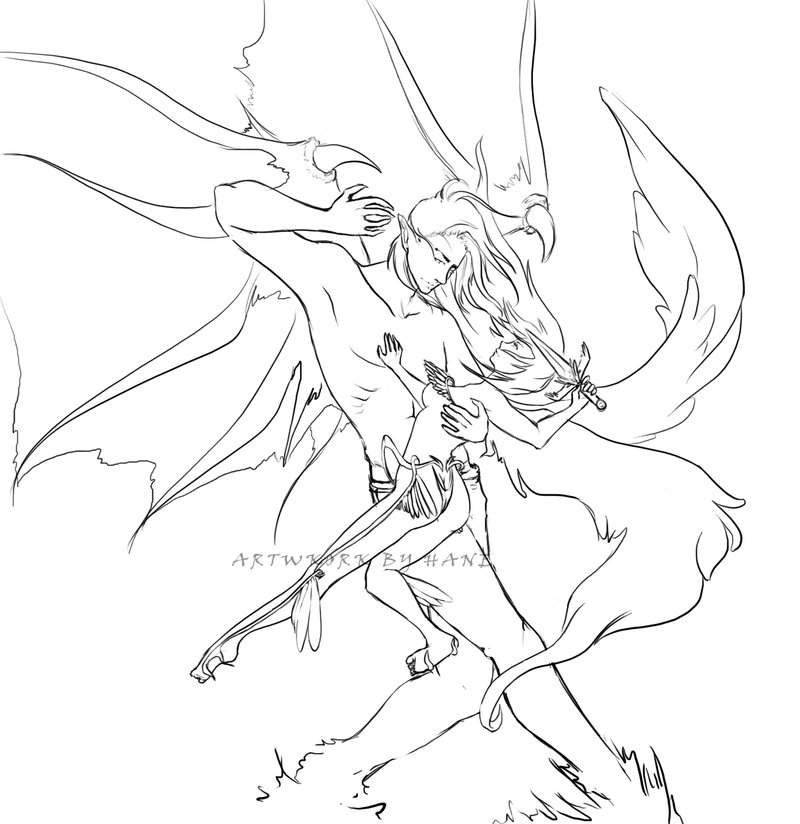 800x824 Demons And Angels Sketch By Hanems