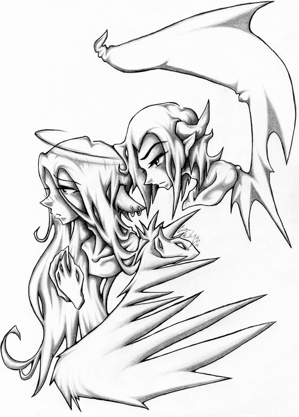 600x837 Angels And Demons Drawings