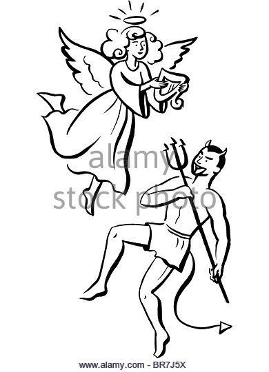 390x540 Illustration Angel Devil Stock Photos Amp Illustration Angel Devil