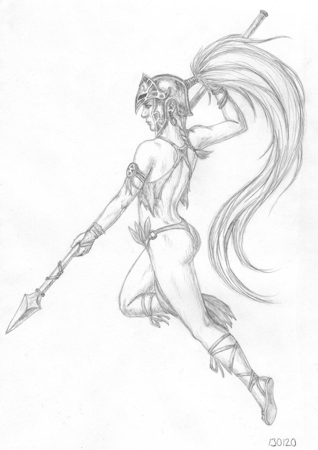 Angel Warrior Drawing