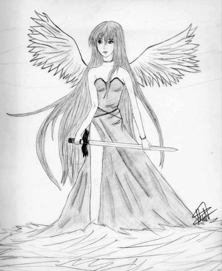 755x923 Angel Warrior By Sparklecherry