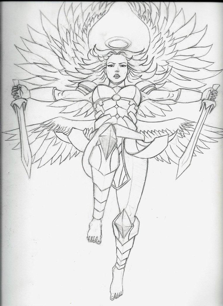 762x1048 Angel Warrior Female By Armageddon777