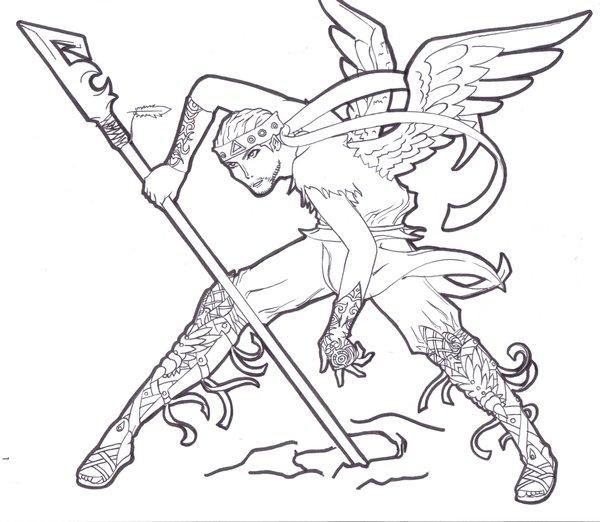 600x522 Angelic Warrior By Zalude