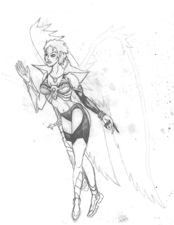 600x776 Female Angel Warrior By Crucifer01