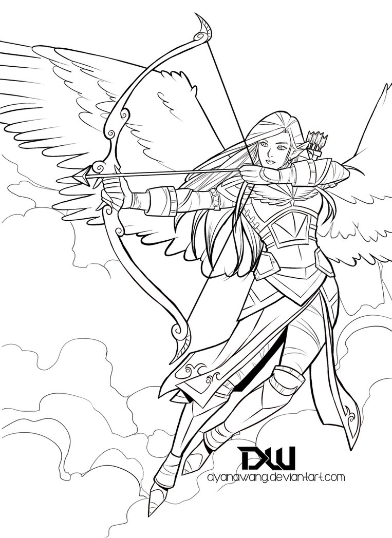 763x1048 Angel Warrior By Dyanawang