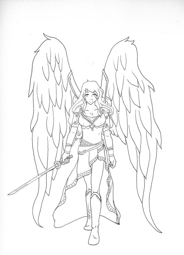 761x1051 Female Angel Warrior By Sinya Chan