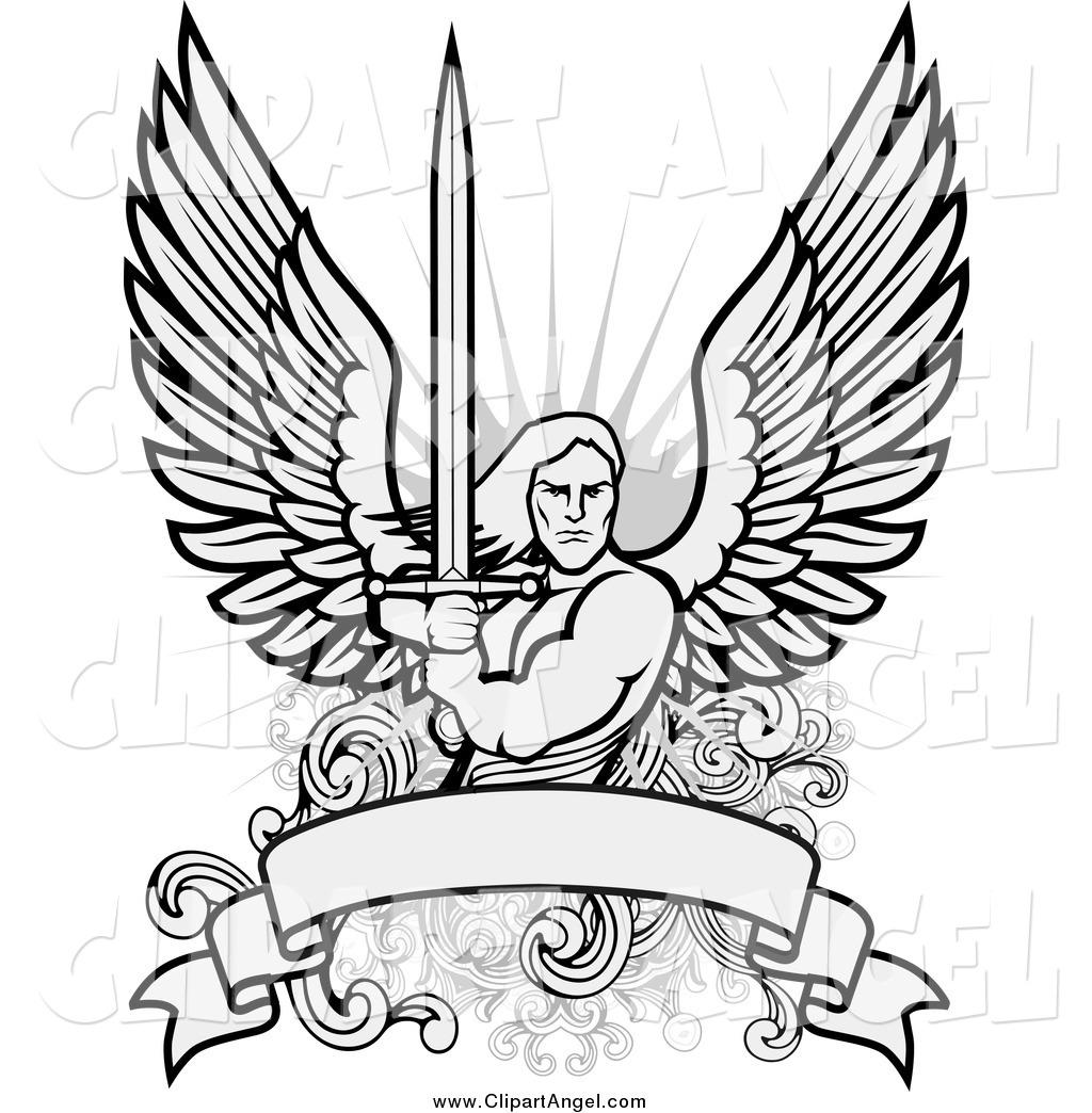 1024x1044 Illustration Vector Of Malengel Warrior With Sword Over