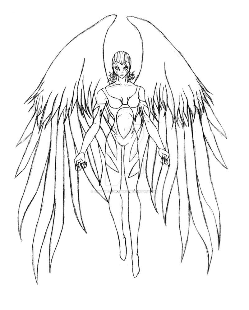 801x997 Warrior Angel By Aniseth Lightwing