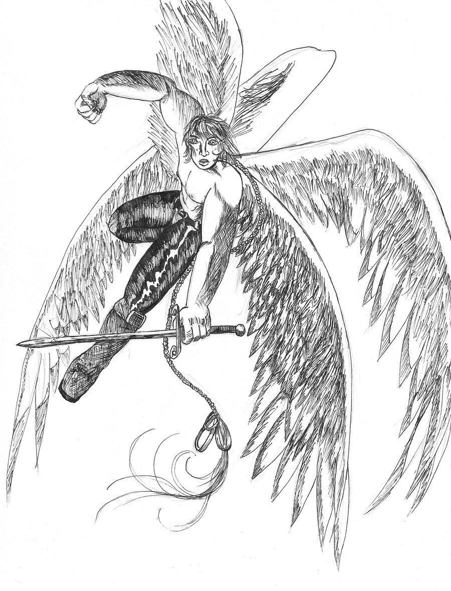 900x1177 Warrior Angel By Insaneangelart