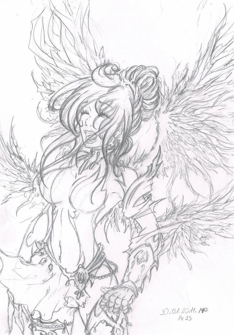 748x1067 Warrior Angel By Pandziaxd1882